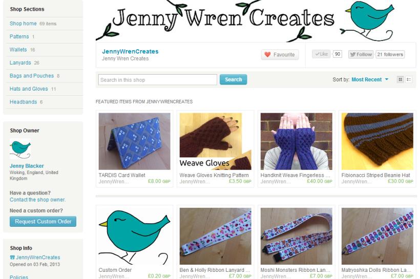 Jenny Wren Creates on Etsy
