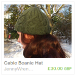 Green Cable Beanie