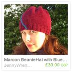 Maroon Beanie with Stripe