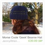 Morse Code 'Geek' Hat