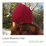 Red Lace Beanie Hat