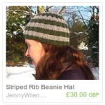 Striped Rib Beanie Hat