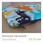 Dinosaur zip pouch