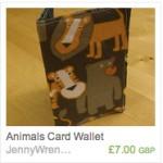 Animals card wallet