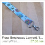 Cartoon Flowers Lanyard