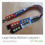 LEGO Ninja ribbon lanyard