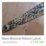 Many Minions! ribbon lanyard