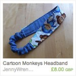 Cartoon Monkeys Headband