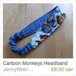 Cartoon Monkeys Headband