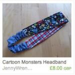 Cartoon Monsters Headband