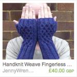 Weave Fingerless Gloves