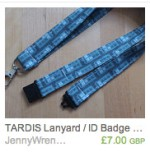 TARDIS Abstract Lanyard