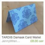TARDIS Damask Wallet