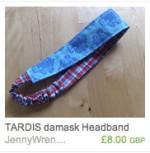 Tardis Damask Headband