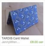 TARDIS card wallet