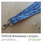 TARDIS Diagonal Lanyard